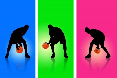 Basketball Dribbling Silhouettes